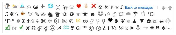 Ajout symboles emails
