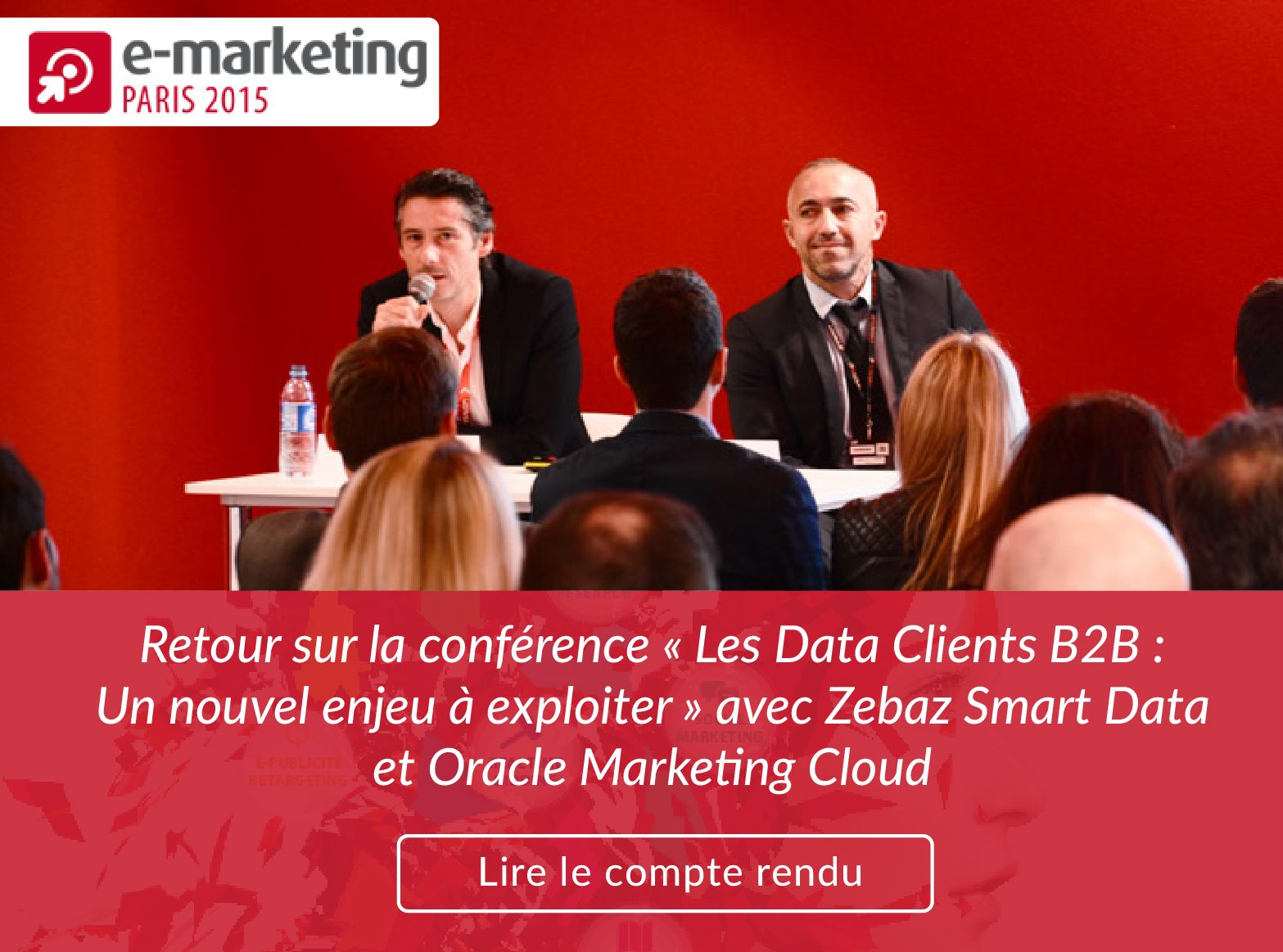 Banniere conference Oracle Marketing Cloud et Zebaz Smart Data