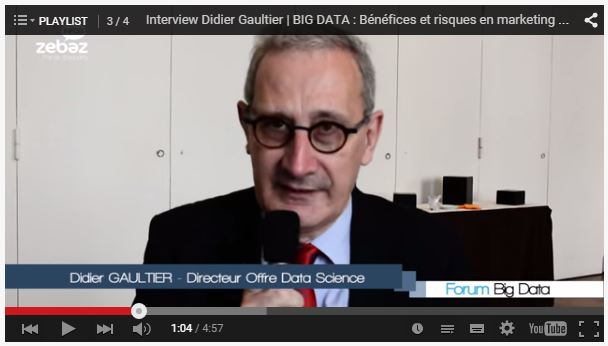 Interview Didier Gaultier Forum Big Data Paris | Intégration du Big Data