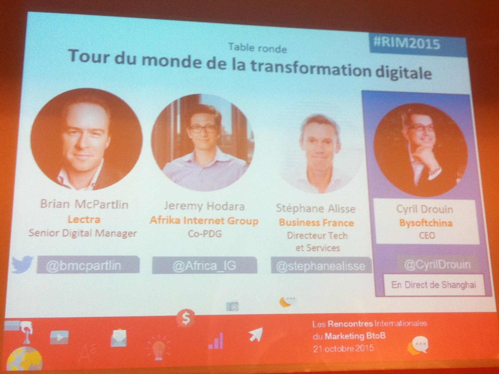 Rencontres Internationales du Marketing B2B | Tour du monde transformation digitale