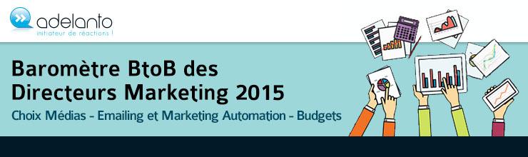 Adelanto | Baromètre B2B  des Directeurs Marketing 2015